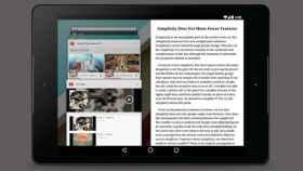 La multiventana en Android, un concepto para tablets centrado en Google Search