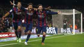 barcelona-s-luis-suarez-neymar-and-lionel-messi-celebrate-a-goal-against-atletico-madrid-during-their-spanish-first-division-soccer-match-at-camp-nou-stadium-in-barcelona