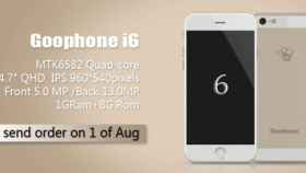 GooPhone i6: el clon del iPhone 6 con Android ya es oficial