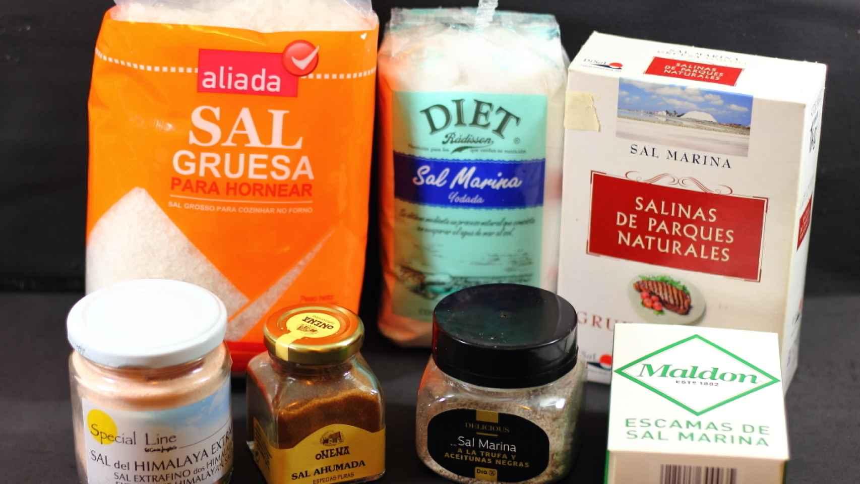 Tipos de sal para cocinar