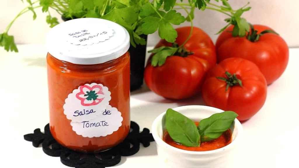 Salsa de tomate rápida en microondas
