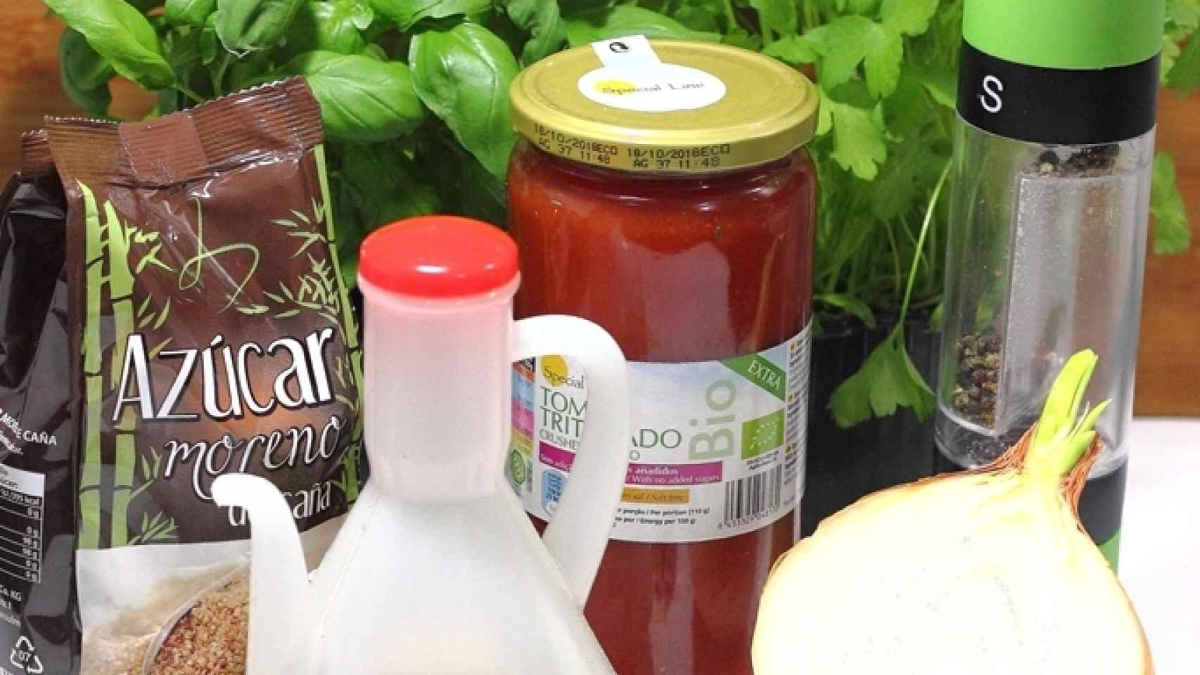 Salsa de tomate rápida Ingredientes