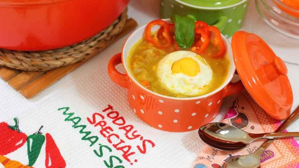 Sopa de verduras de temporada