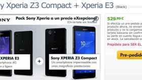 Oferta: Xperia E3 por 30€ al comprar un Xperia Z3 Compact