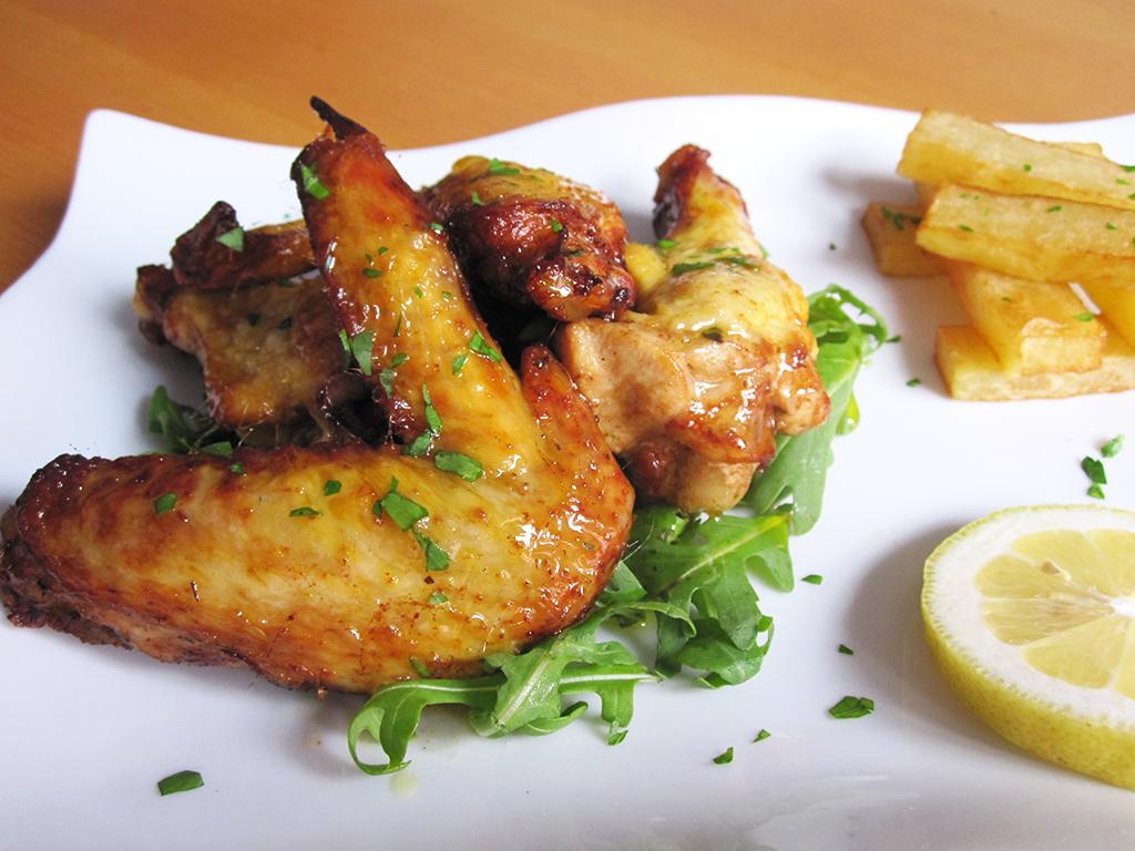 0 Alitas de pollo marinadas