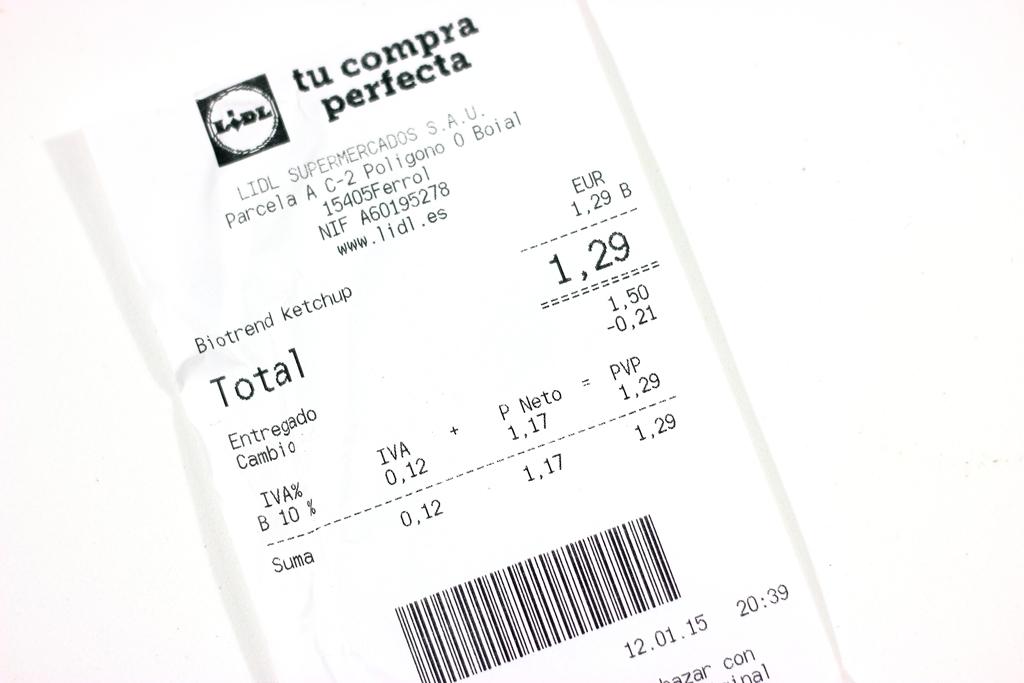 Kétchup ecológico del Lidl Precio