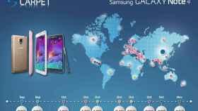 Samsung anuncia las fechas oficiales de salida del Note 4 en una infografía