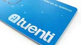 Tarjeta SIM de Tuenti.
