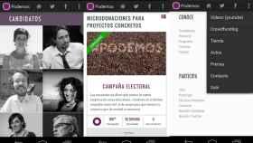 Podemos, la app para Android del nuevo partido político español