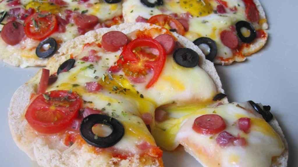 0 Pizza pita de huevo de codorniz