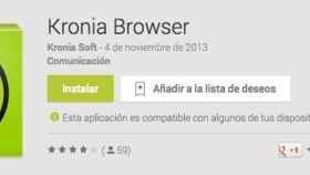 Kronia Browser para Android, una bonita interfaz y alta velocidad