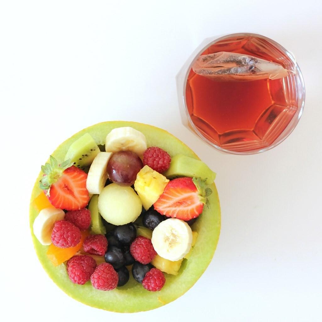 Melón relleno de fruta
