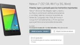 Nexus 7 LTE ya disponible en España y otros paises