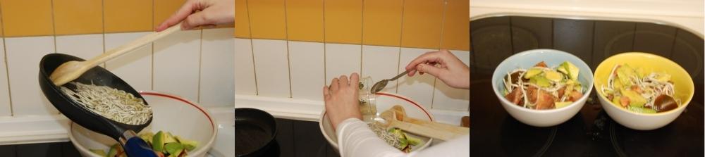 Mezclando los ingredientes