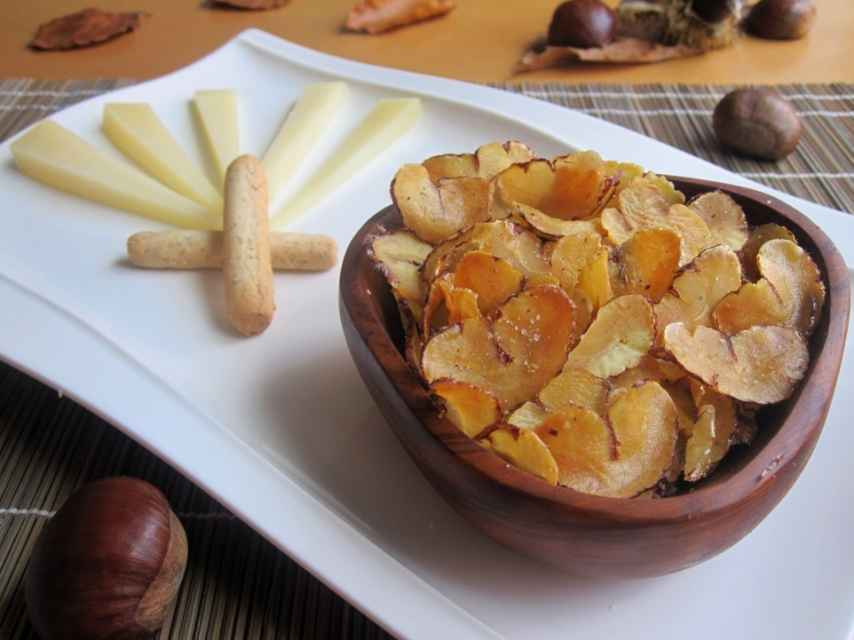 Chips De Castañas Receta De Aperitivo Fácil