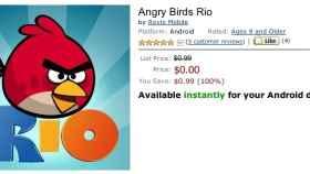 Angry Birds Rio para Android ya está en la nueva Amazon App Store