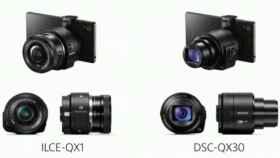Sony presenta los nuevos QX1 y QX30, objetivos que se adaptan a tu smartphone