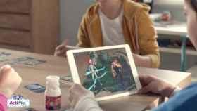 Lucha en batallas 3D con la app de Equipo Actimel y sus cartas coleccionables