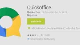 QuickOffice para Android se renueva y se vuelve gratuita añadiendo también 10GB de espacio en Drive
