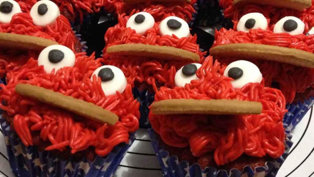 Cupcake Red Velvet Monstruo de las Galletas