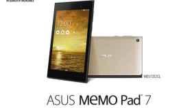 Asus Memo Pad 7: potente y ligera tablet con pantalla FULLHD por 199€