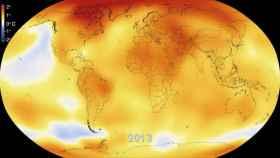 Superficie de la Tierra afectada por las anomalías de calentamiento.