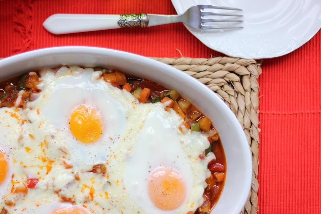 Pisto con huevos