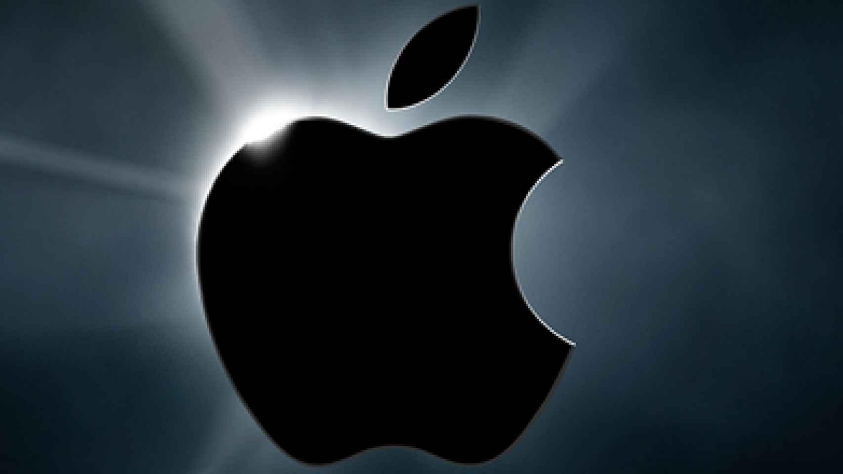 El logo de Apple.