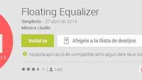 Floating Equalizer, completo ecualizador de sonido accesible en cualquier lugar