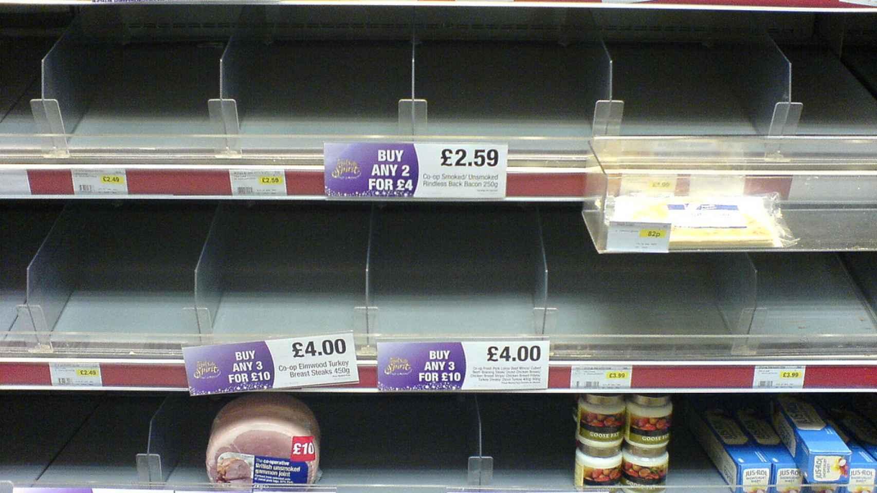 comida desaparecida supermercado