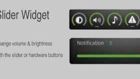 Control deslizante para el sonido y brillo con Slider Widget