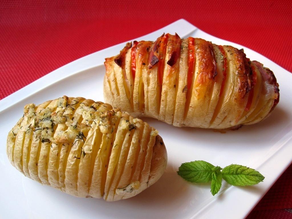 Patatas asadas al estilo Hasselback 14