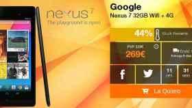Oferta: Google Nexus 7 de 32GB 4G por 275€
