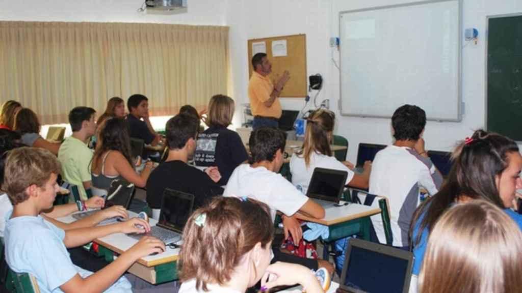 ordenadores en un aula.