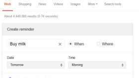 Crea recordatorios directamente desde el buscador de Google