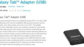 Adaptador puerto USB Host (USB on the go) para Samsung Galaxy 10.1
