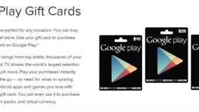 Las tarjetas de regalo del Google Play ya son oficiales