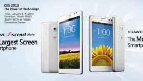Nuevos Huawei Ascend Mate y Ascend D2, la mayor pantalla y la de mayor resolución