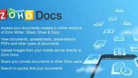Consulta tus documentos en la nube con ZohoDocs, la mejor alternativa a Google Docs