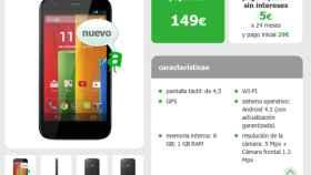 Motorola Moto G más barato en amena por 149€ sin permanencia