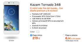 Oferta: Kazam Tornado 348, el móvil más delgado y ligero por 219€