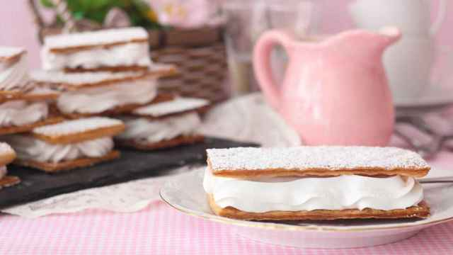 Milhojas de merengue caseras