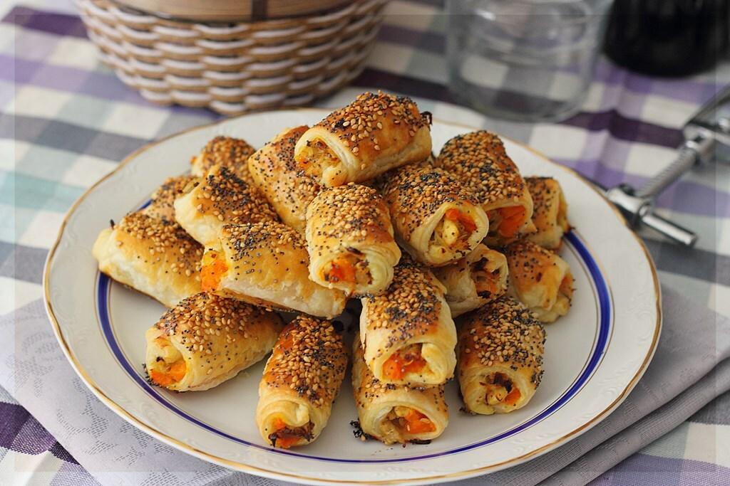 Hojaldritos de pollo y zanahoria