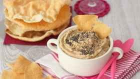 Hummus de lentejas con papadums
