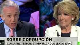Esperanza Aguirre junto a Eduardo Inda en 'laSexta Noche'