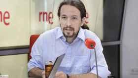 Pablo Iglesias en una reciente entrevista con Alfredo Menéndez en RNE.