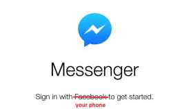 Facebook Messenger puede utilizarse sin tener cuenta en Facebook