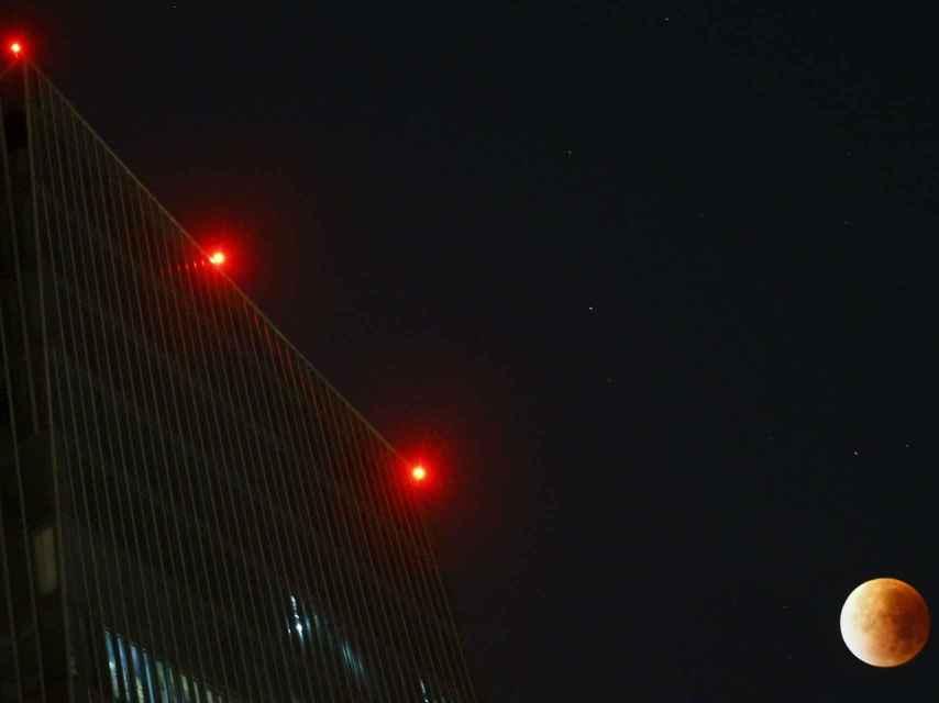 Imagen del satélite junto a la sede del Banco Central Europeo.