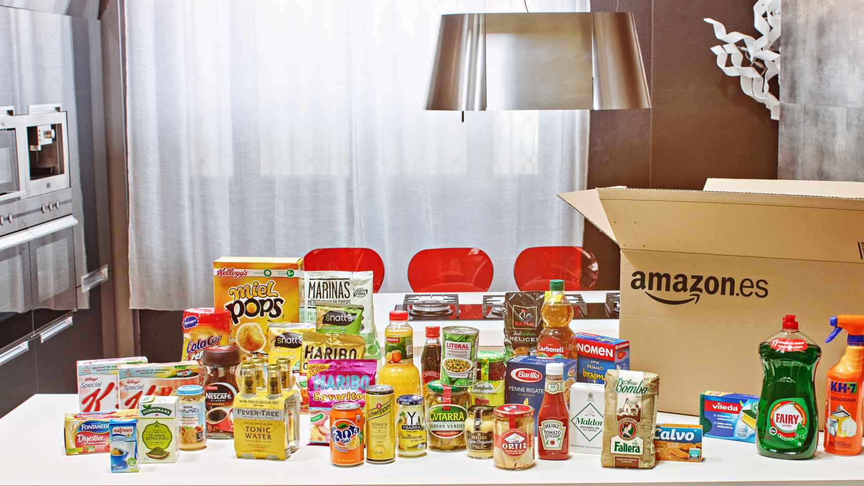 Marcas que distribuirá Amazon en su tienda de alimentación en España