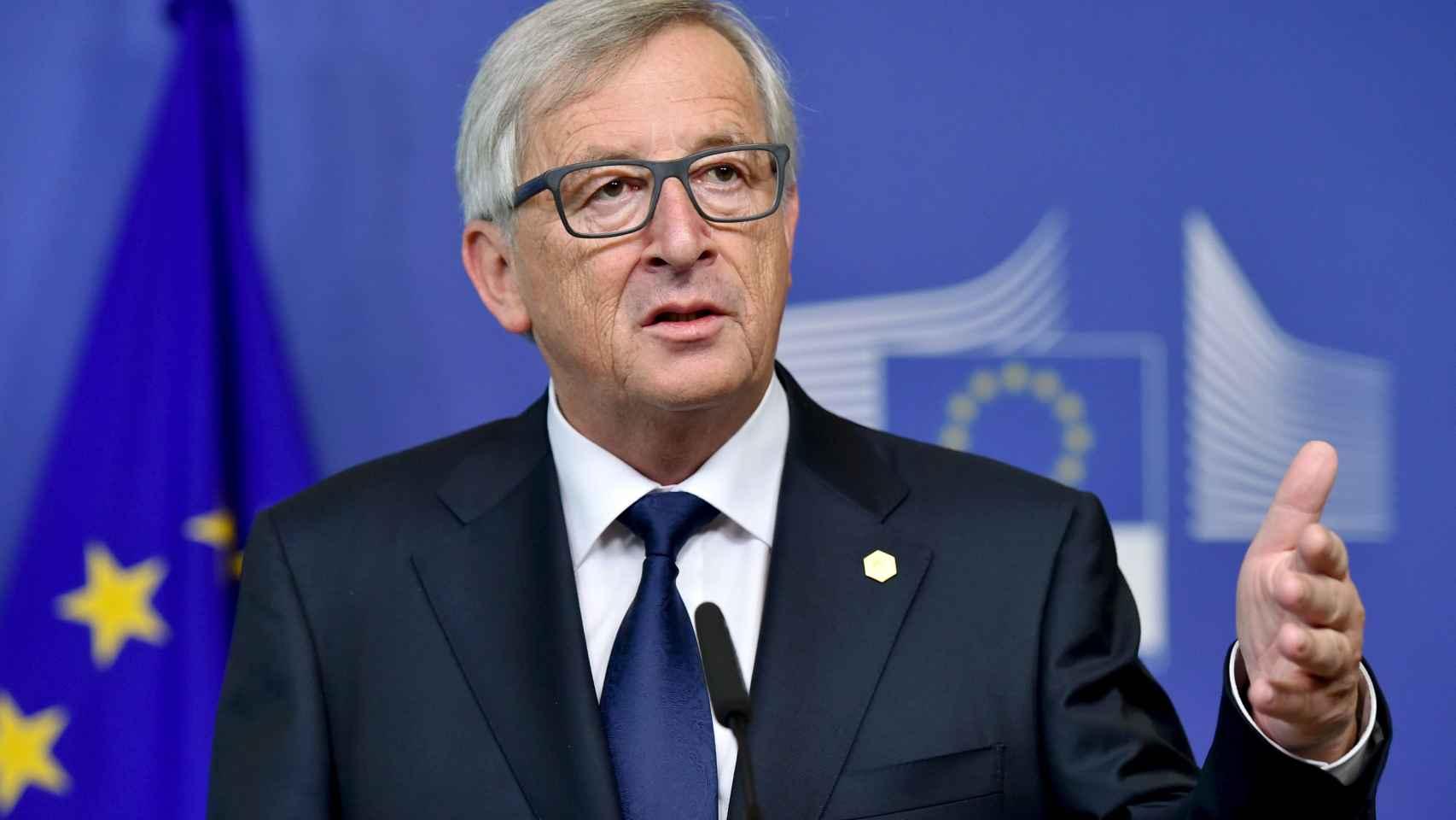 Jean Claude Juncker, la pasada semana tras una rueda de prensa de la Comisión Europea
